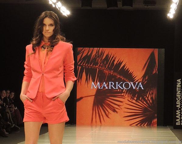 Markova primavera verano 2014. Moda trajes verano 2014.