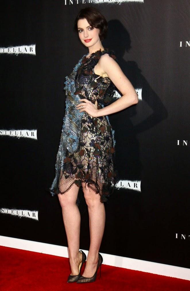 Anne Hathaway: Interstellar NY Premiere