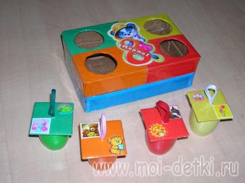 Развивающие игрушки своими руками для детей от года фото