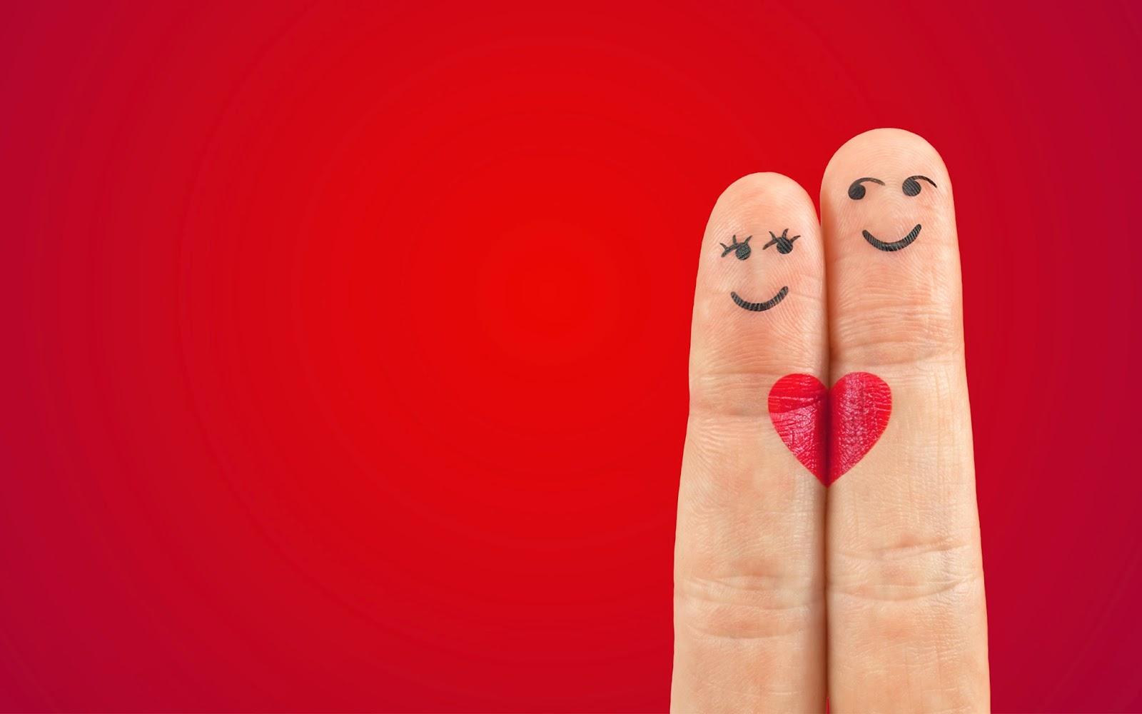 Love Pair Heart Fingers
