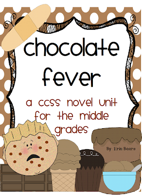 http://www.teacherspayteachers.com/Product/Chocolate-Fever-A-CCSS-Middle-Grades-Novel-Unit-990749