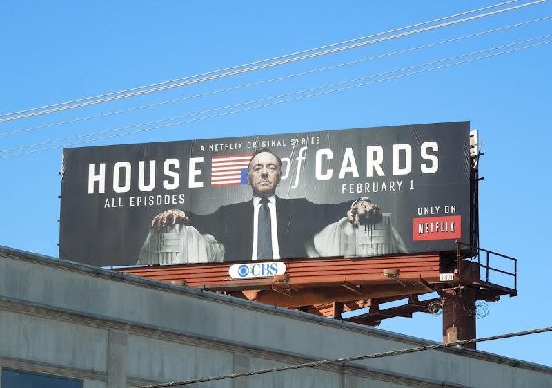 House of Cards Netflix TV billboard