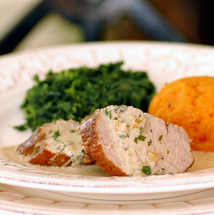 Pork Tenderloin with Mustard Cream Sauce