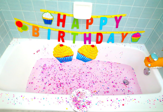 Birthday cake bath