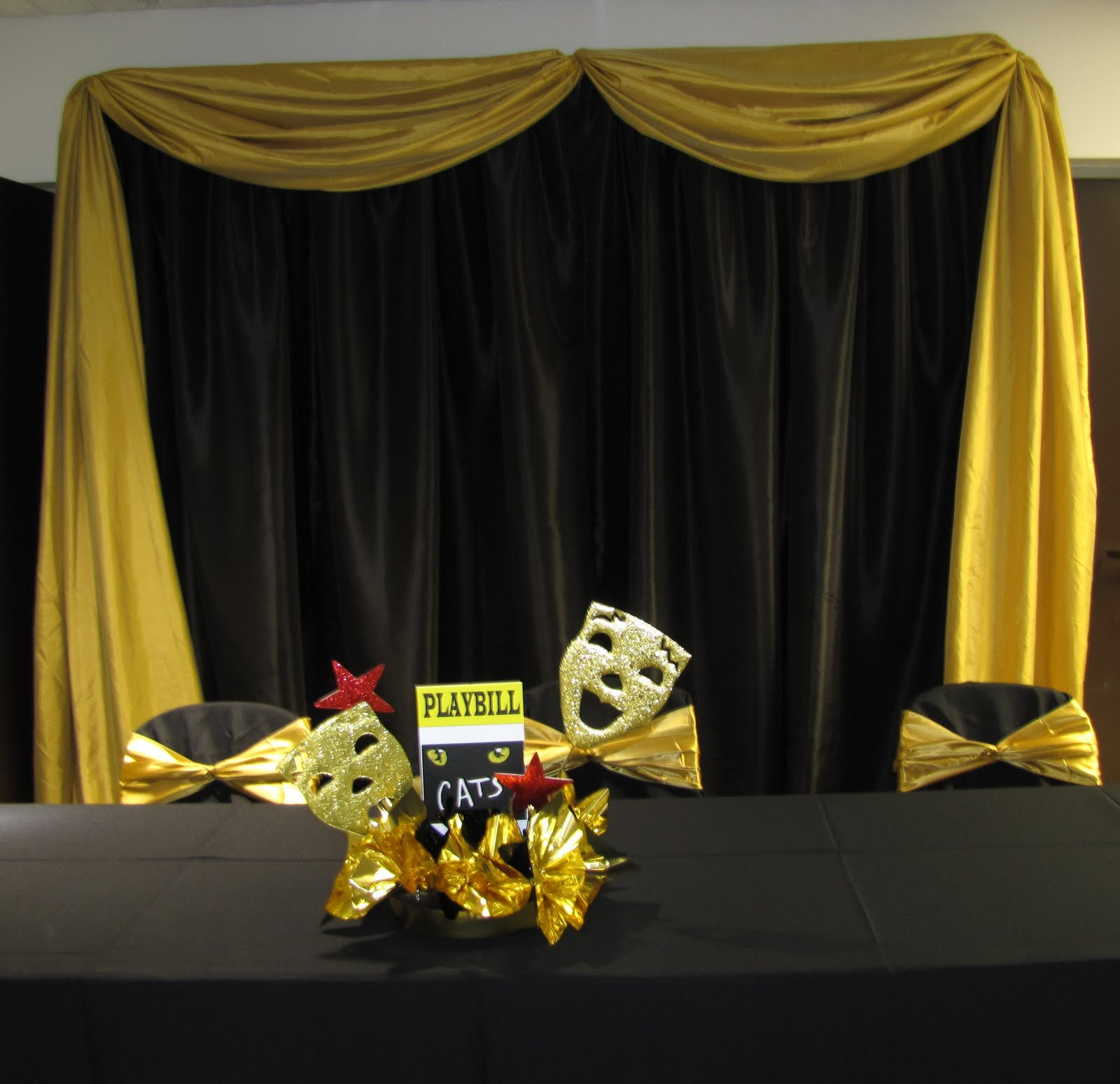event decorating company broadway themed awards banquet