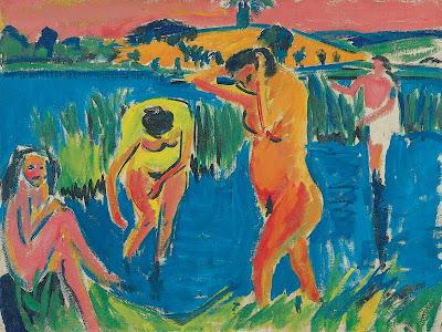 Ernst Ludwig Kirchner - Quatre baigneuses,1910