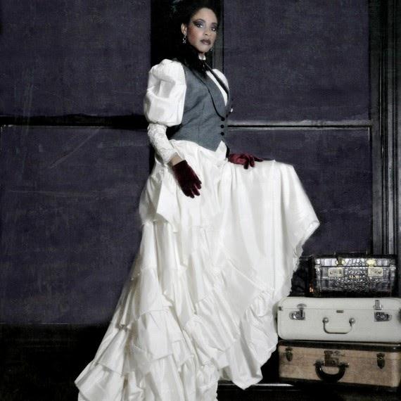 Steampunk wedding dresses design ideas in white handmade for Vintage gothic wedding dresses