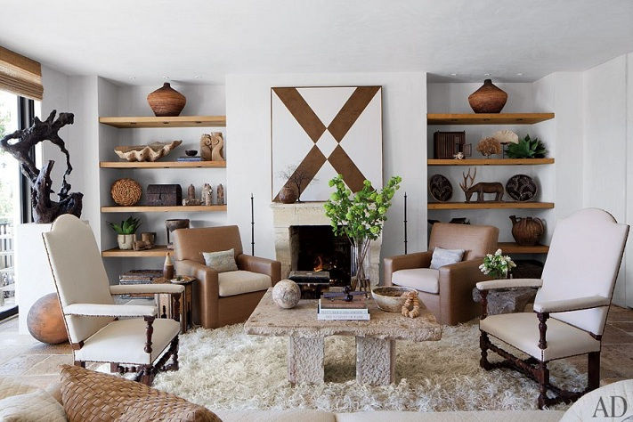 Mix And Chic Home Tour A Film Producer S Oceanfront Malibu Retreat. Native  American Indian Feathers On Wanelo Native Living Room ...