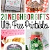Christmas Neighbor Gifts with Free Printables
