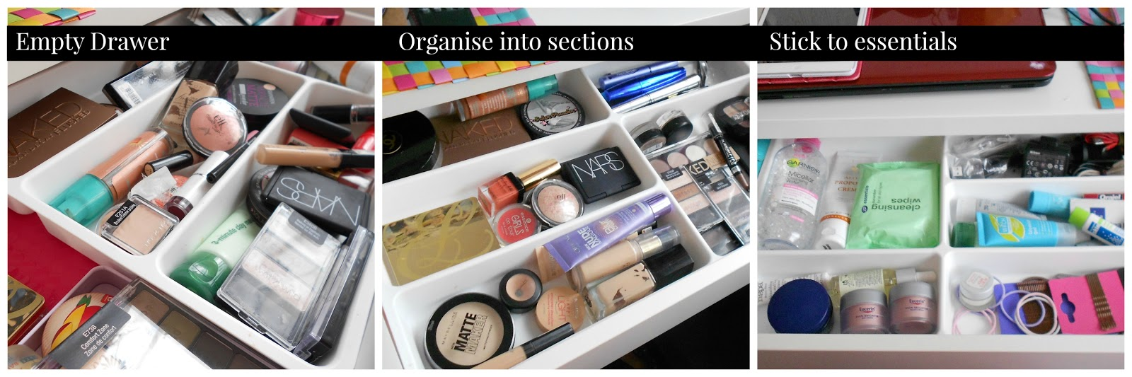 how to organise your makeup collection