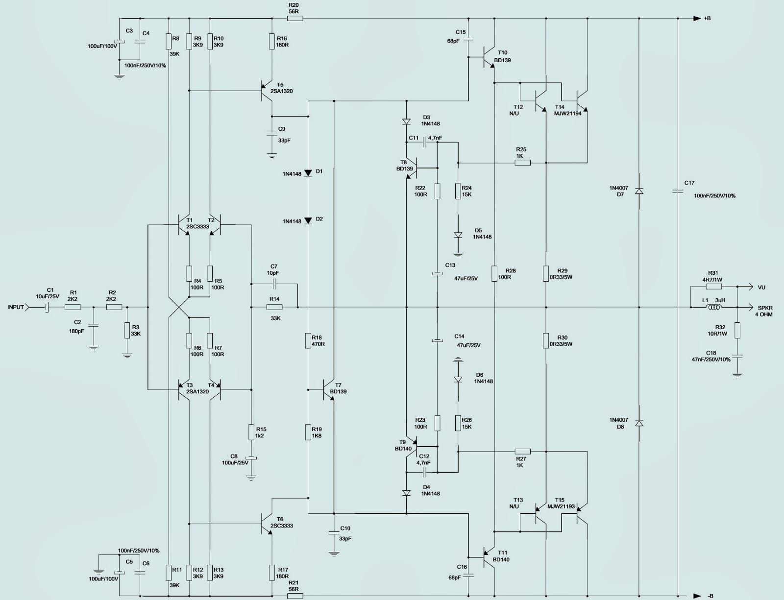 Mark Audio Attack Mk2400 Amplifier Schematic Circuit Wiring Diagram 250v