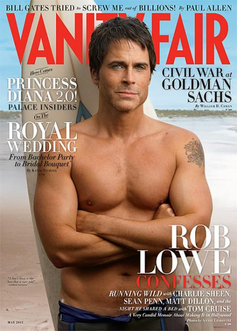 rob lowe shirtless vanity fair. a Rob Lowe viéndole así,