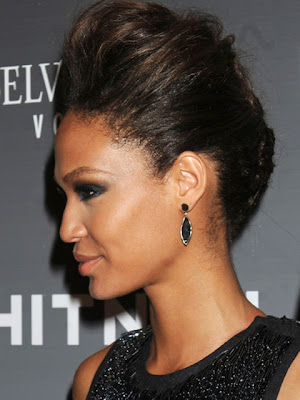 Joan Smalls Dangling Gemstone Earrings