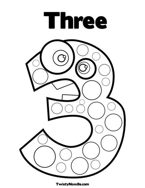 Coloring pages for kids number three 3 coloring pages number three 3 coloring pages maxwellsz