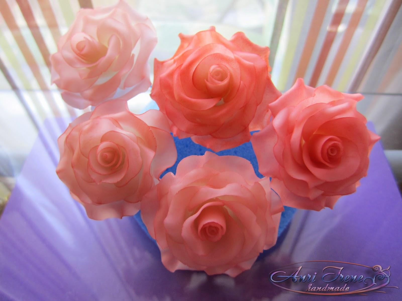 Цветы из холодного фарфора своими руками. Лепка розы 77