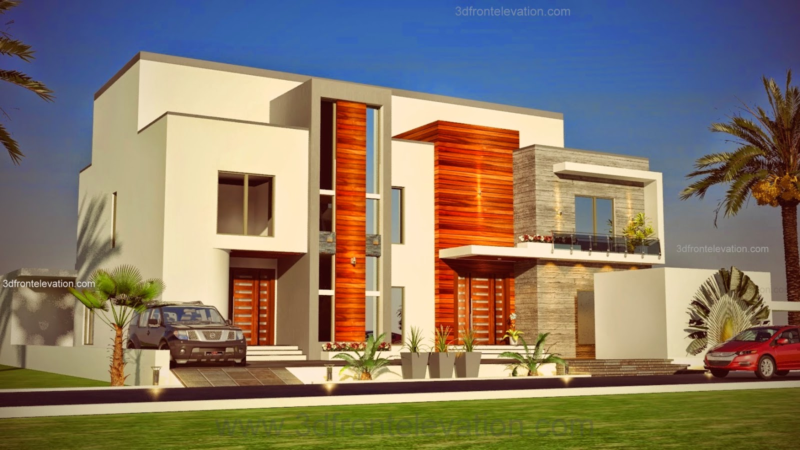 3d front elevation dubai joy studio design gallery for Modern home decor dubai