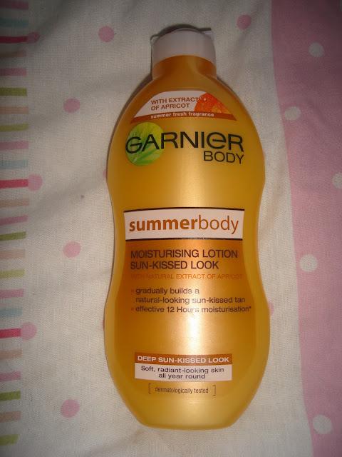 GARNIER SUMMER BODY MOISTURISING LOTION SUN KISSED LOOK