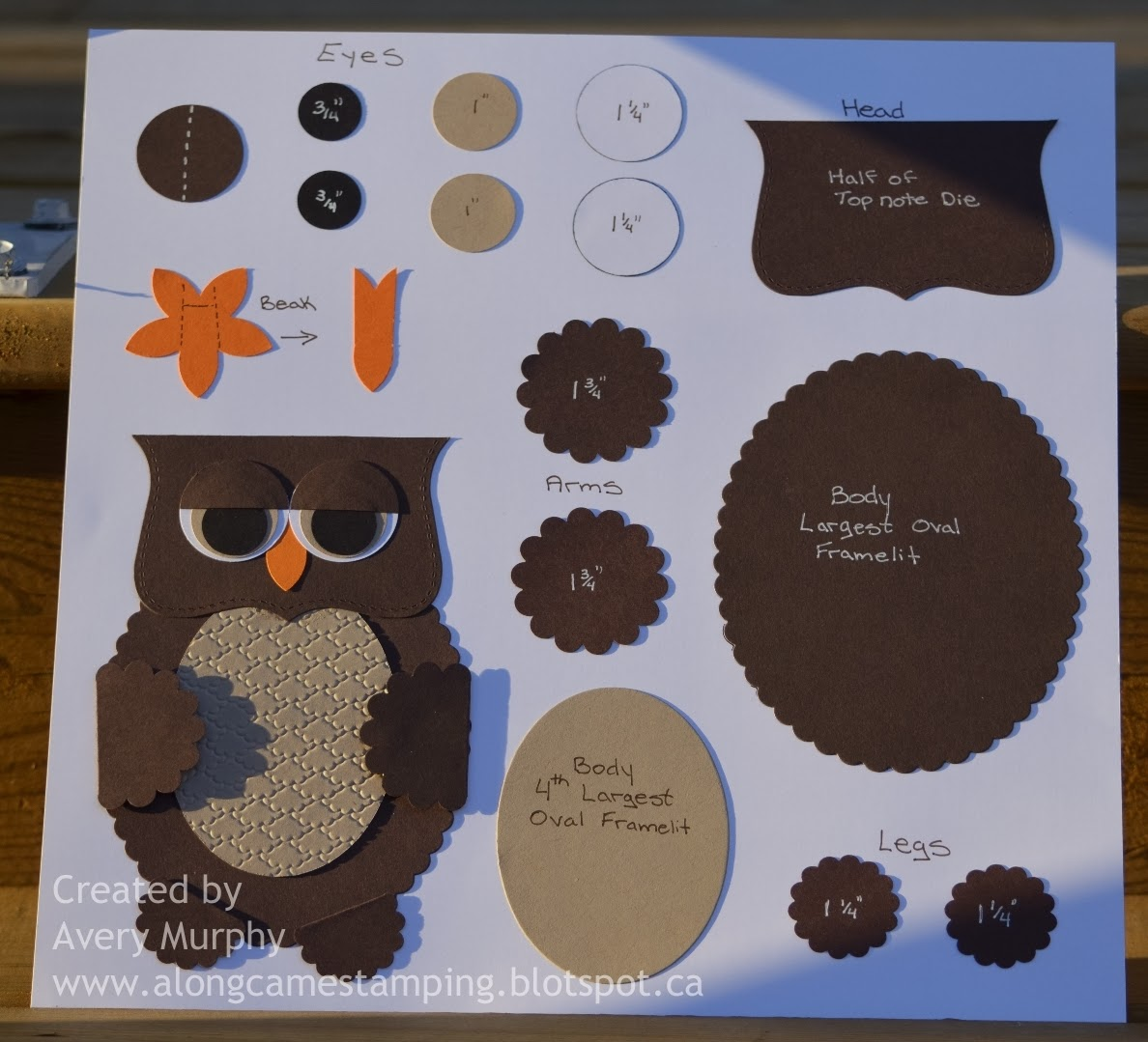 Owl Sheet Cake Template Owl punch art birthday card