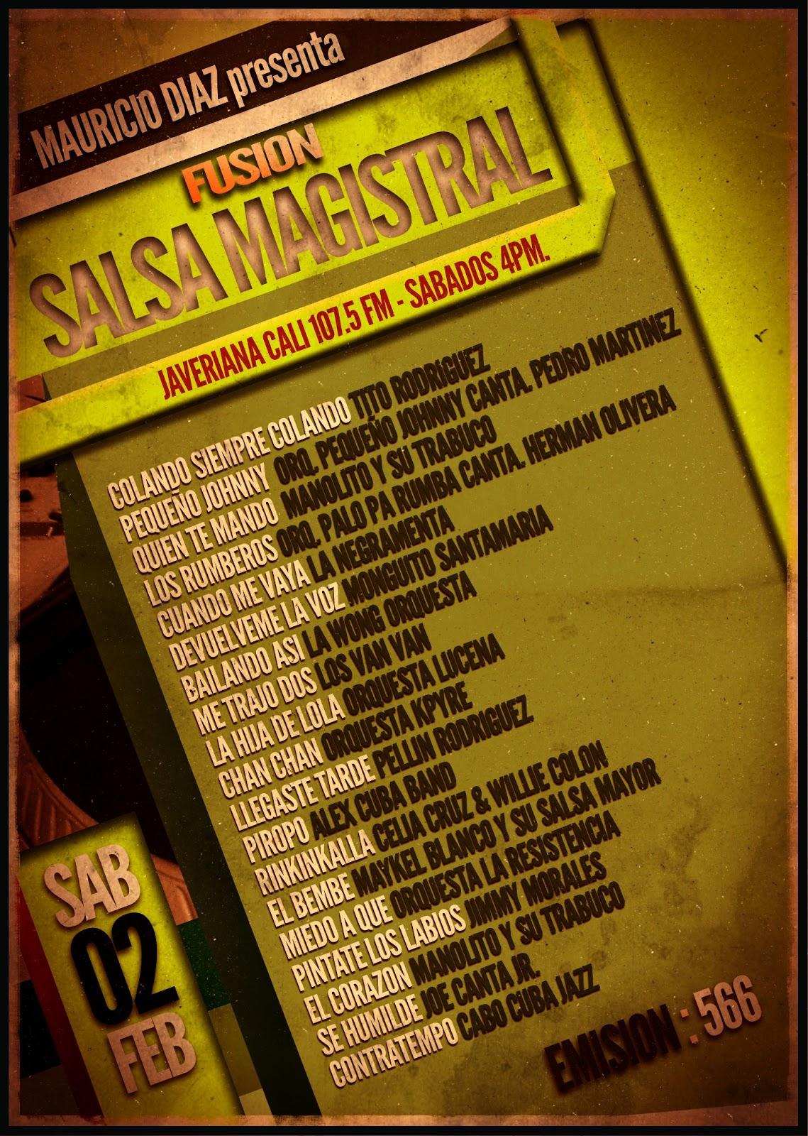 Febrero 2013 salsa magistral for Amazon canta tu alex e co