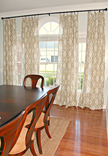 Make A Dining Room Appear Larger With Curtains