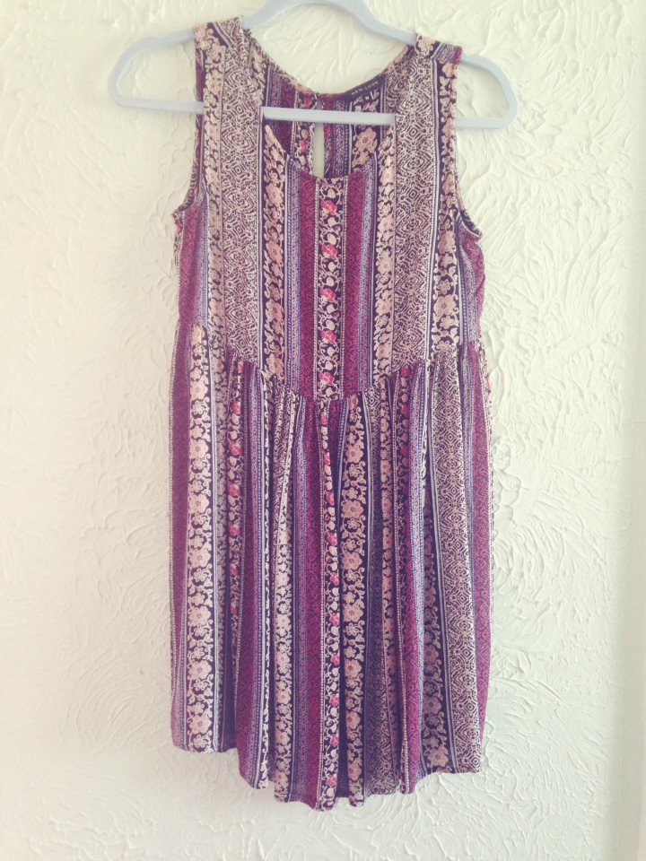 New Look Cream Ethnic Stripe Sleeveless Dress