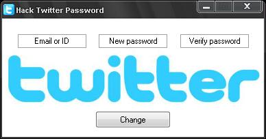 Hacking Twitter Account Password