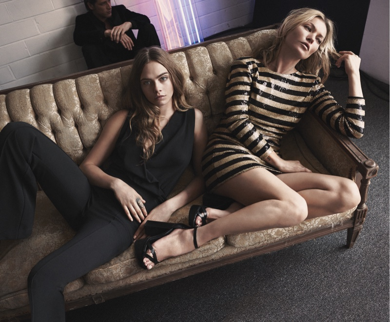 Mango Evening 2015 Campaign starring Kate Moss and Cara ...