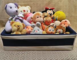 Cesto organizador de brinquedos