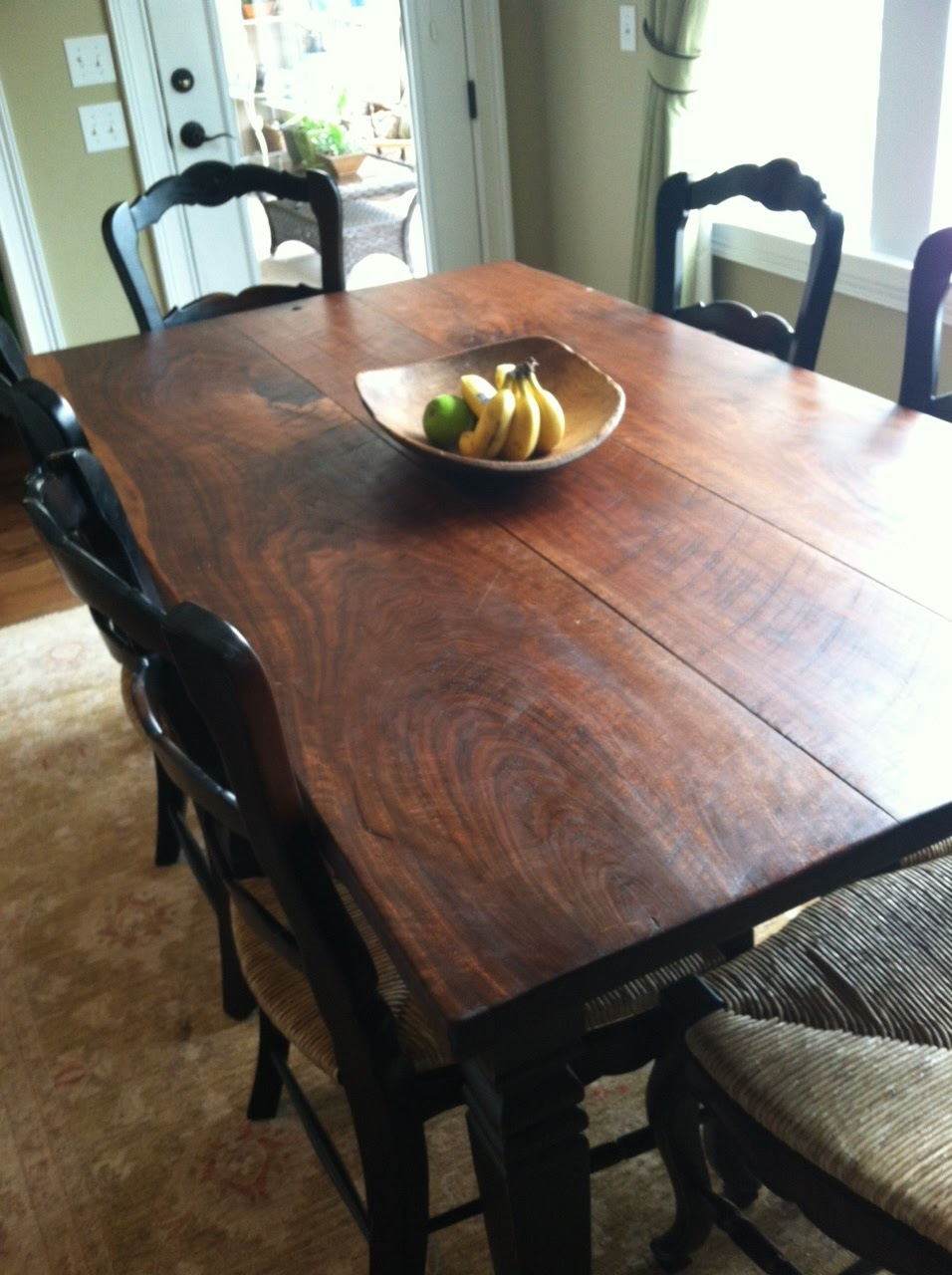 Black Walnut Breakfast Table