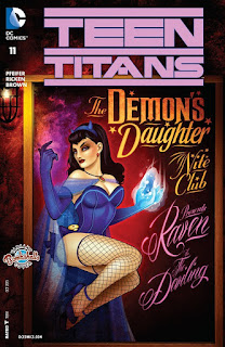 Alternate Bombshells cover to Teen Titans #11 featuring Raven