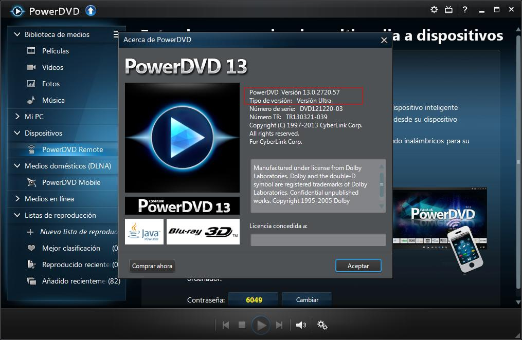 Cyberlink PowerDVD Ultra v.13.0.2720.57 [Español] [Full] Cap8.descargasvip.net