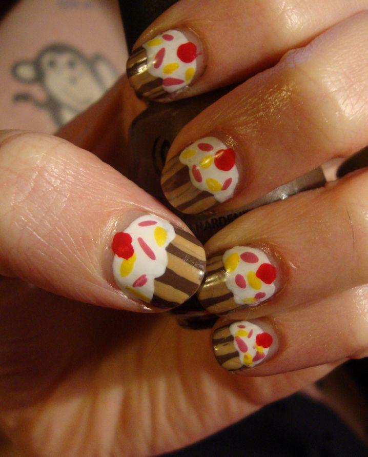 Cupcake Nails: Dysphoria Nails: 25th Birthday Cupcake Nails