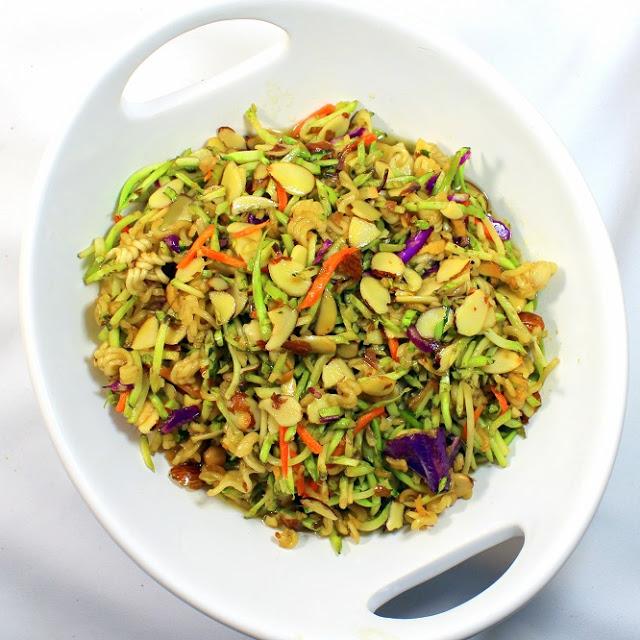grilling time (side dish) - ramen noodle broccoli cole slaw