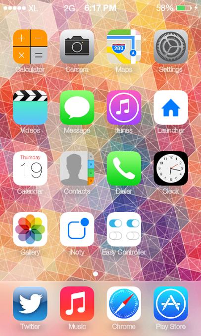 Merubah Tampilan StatusBar Dan Notification Android Seperti Iphone