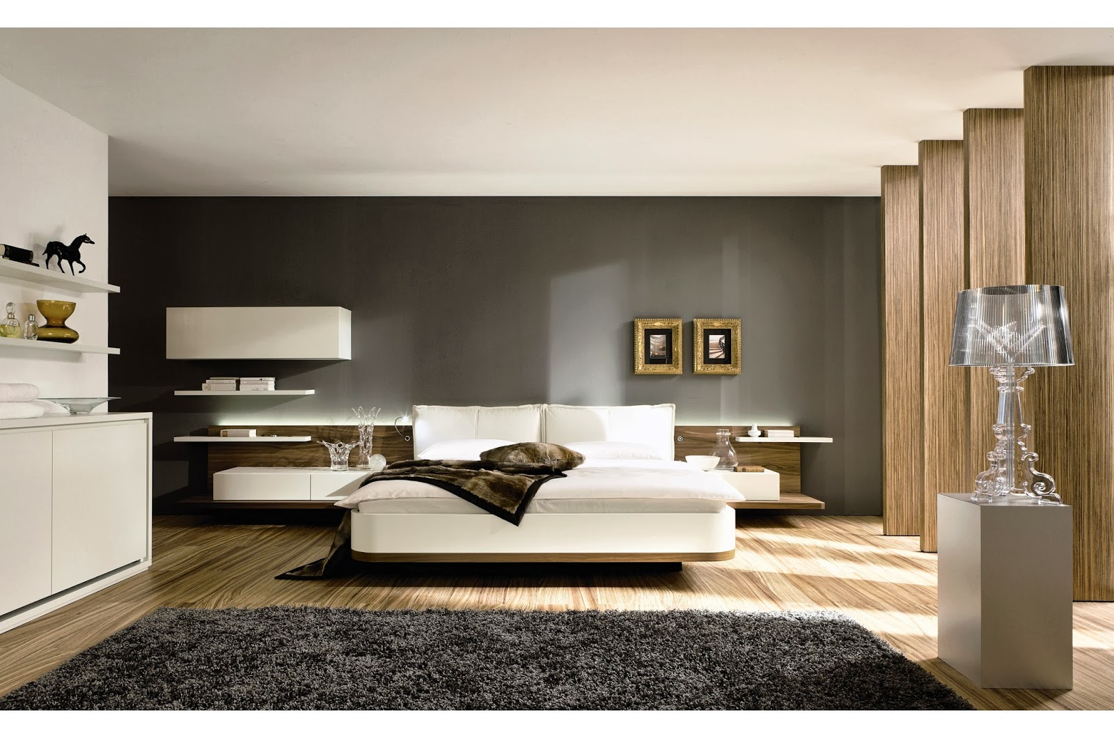Modern bedroom interior design for Modern home interiors pictures