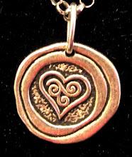 Vintage Silver Heart Pendant