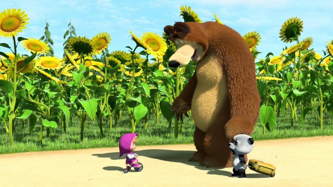 Картинки Маша и Медведь. Маша и Миша - первая встреча