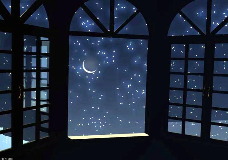 Fotos e imágenes de estrellas fugaces, con la luna
