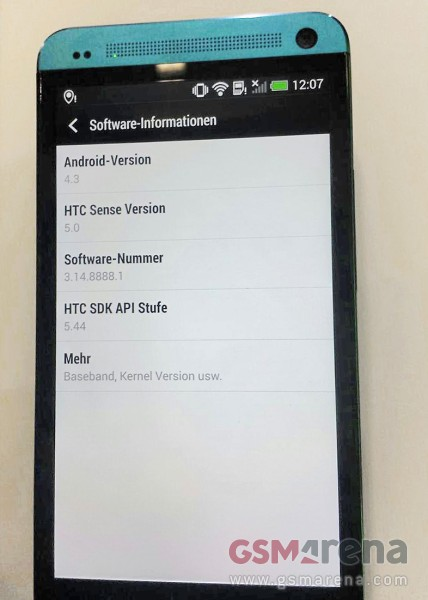 HTC One running Android 4.3