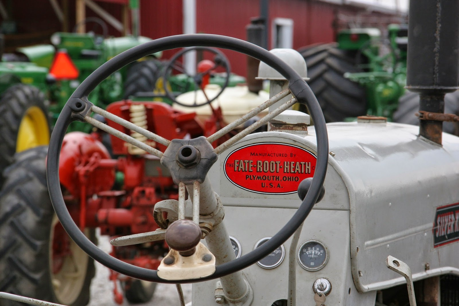 silver king tractor steering wheel