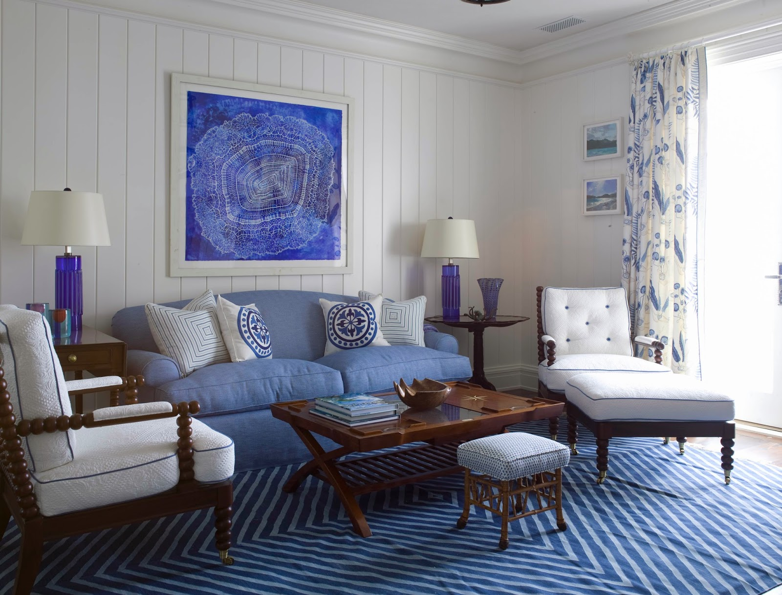 Accent chairs for living room living room interior designs - Blue living room chairs ...