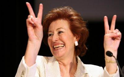 Foto di Letizia Moratti prima di perdere la rielezione a sindaco di Milano