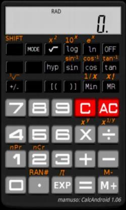 CalcAndroid. Calculadora científica gratuita para móviles con Android