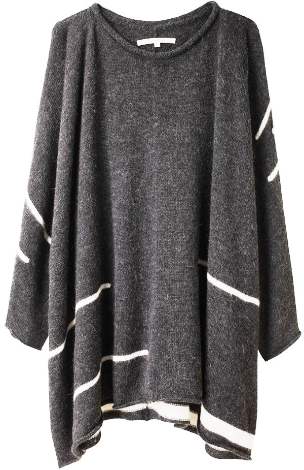 Lovely oversized dark grey sweater