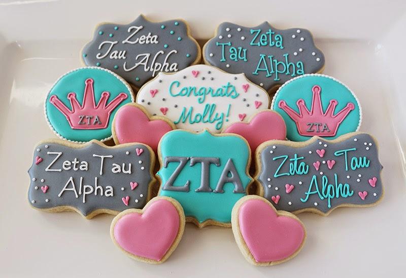 Zeta Tau Alpha Cookies