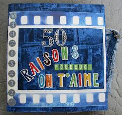 Альбом из старых джинс