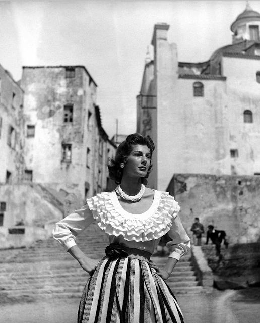 Ruffles Across the Eras ~ 1950s #vintage #fashion #1950s #ruffles