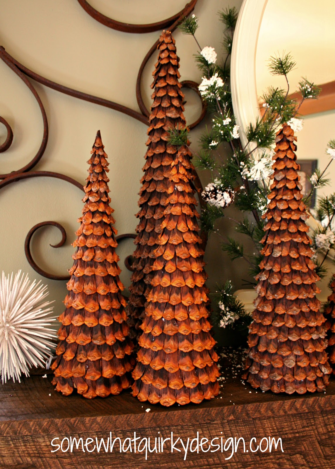 pine cone christmas trees - Pine Cone Christmas Tree Decorations