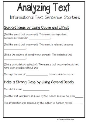 Essay analyzing a text
