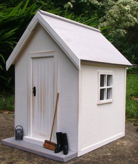 Julies dolls house blog Shabby Chic Garden Shed
